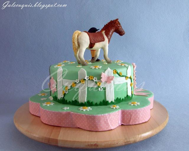 Noa´s Cake and her horse