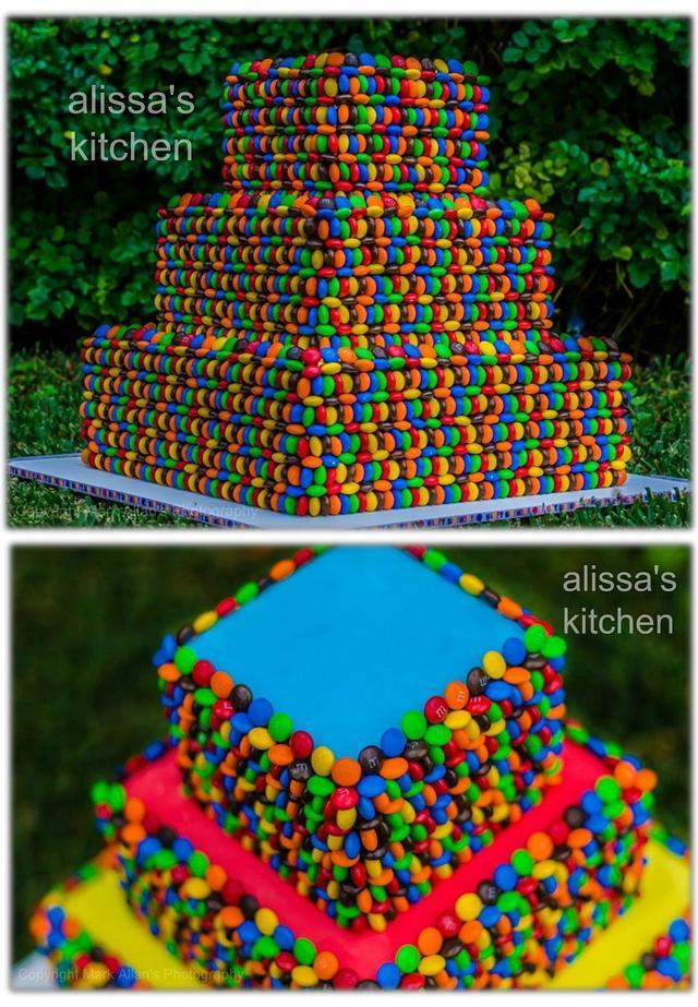 M&M's 3 tier cake