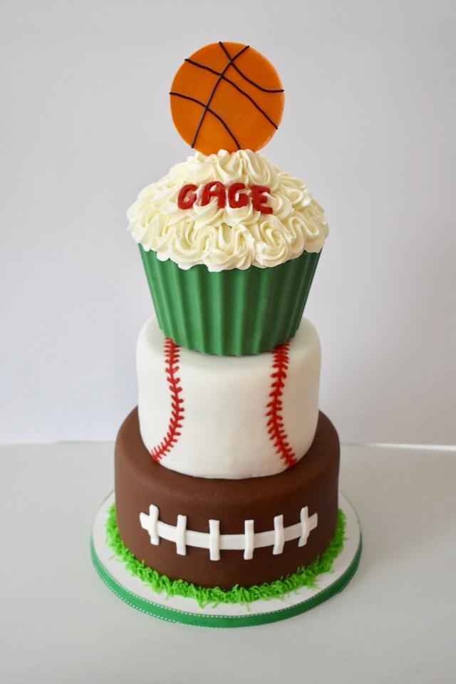 Amazing Sports Birthday Cake Cake By Misty Cakesdecor Funny Birthday Cards Online Bapapcheapnameinfo