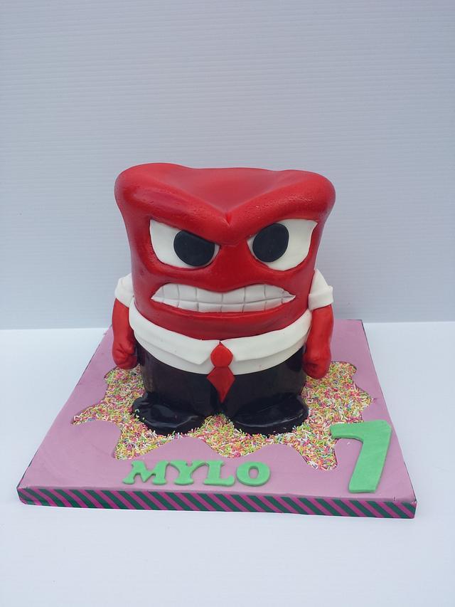 Inside out anger cake