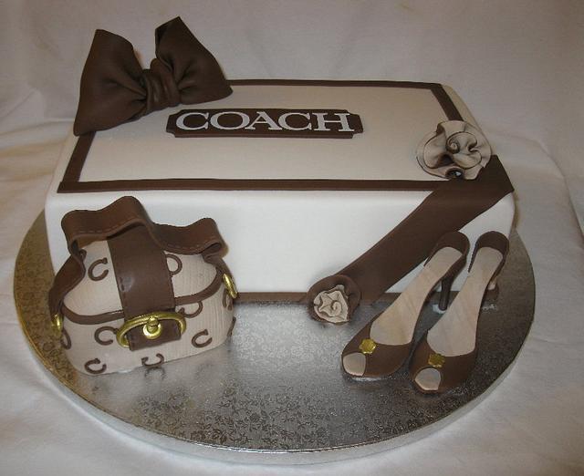 Coach Bag, shoebox & High Heel Shoes