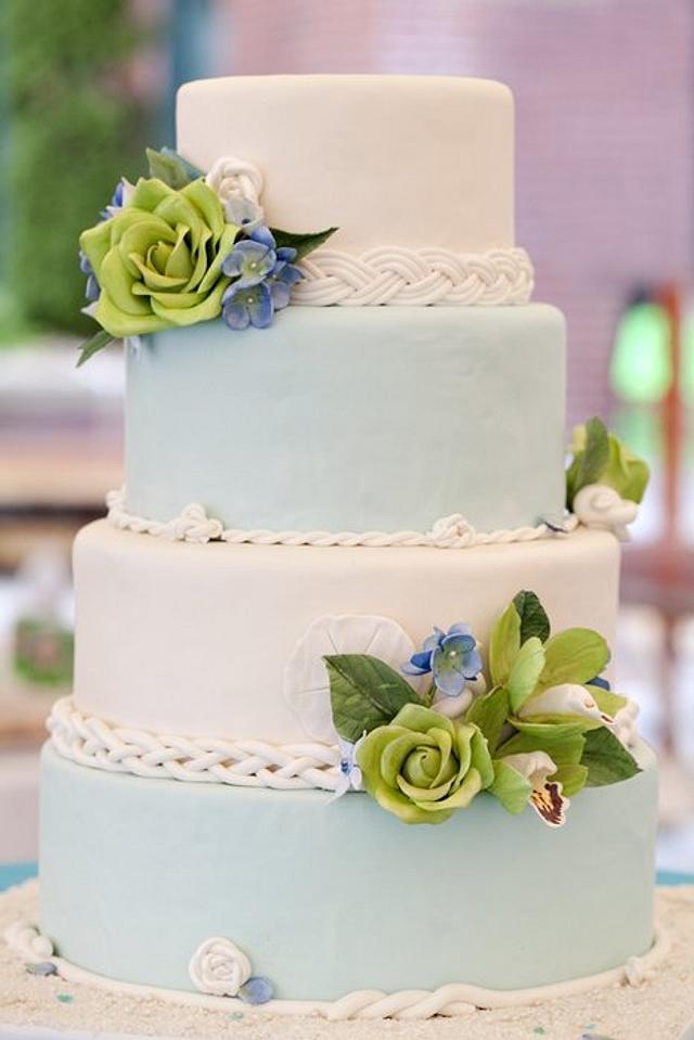 Floral Seaside Wedding
