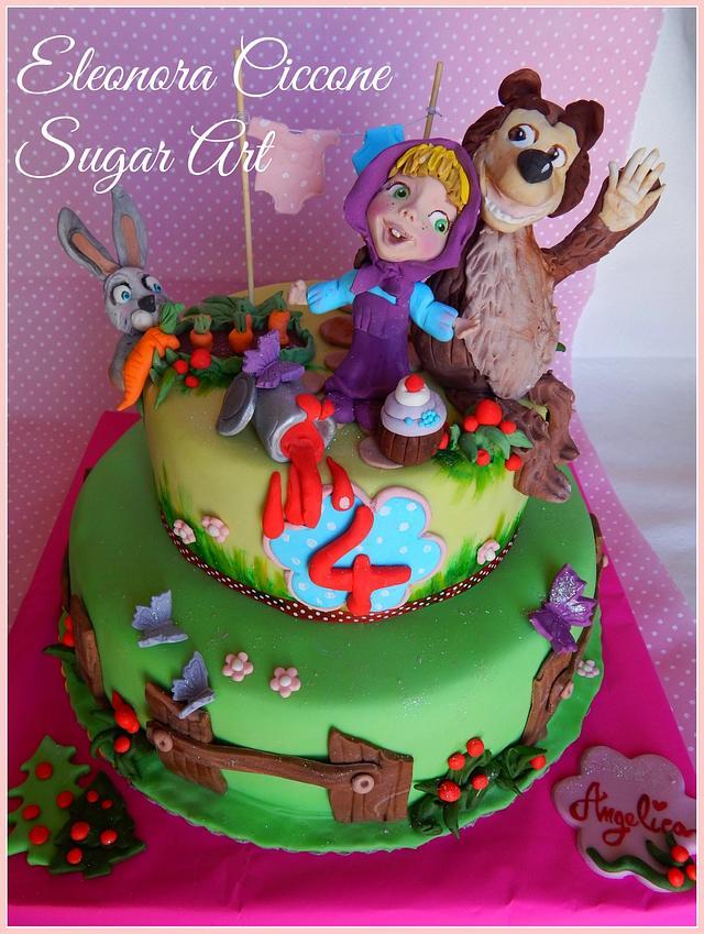 Masha and Bear cake