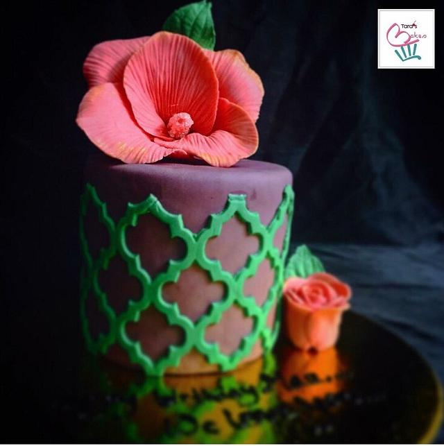 A chocolate cake with chocolate ganache filling and frosting...