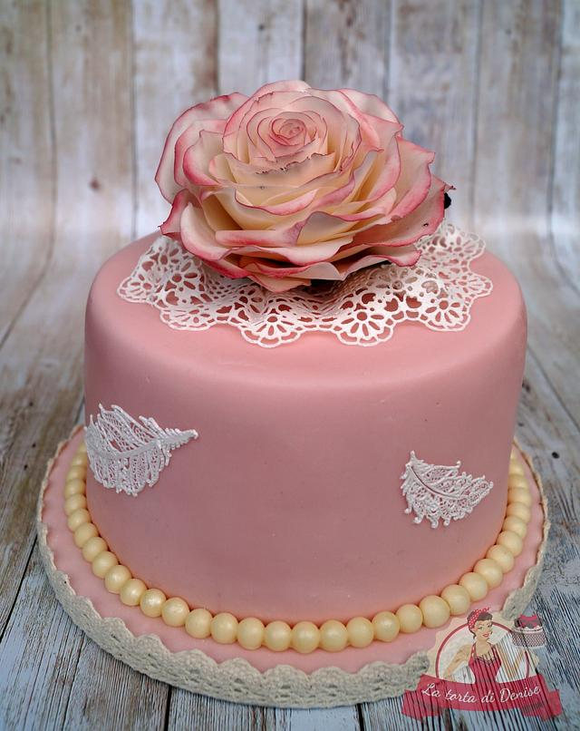 Little vintage birthday cake for a friend