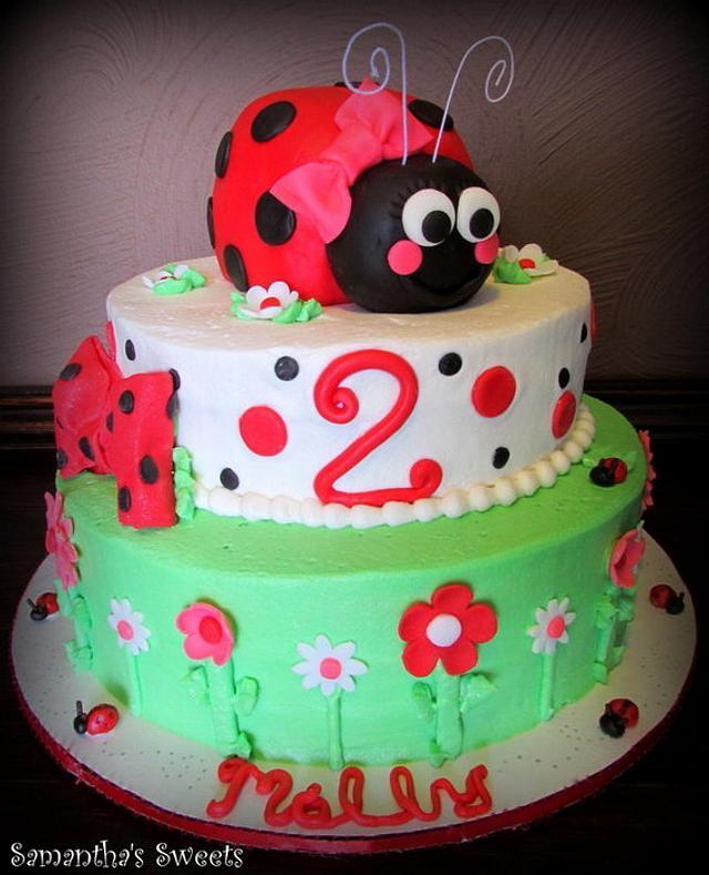 Terrific Ladybug Birthday Cake Cake By Samantha Eyth Cakesdecor Funny Birthday Cards Online Fluifree Goldxyz