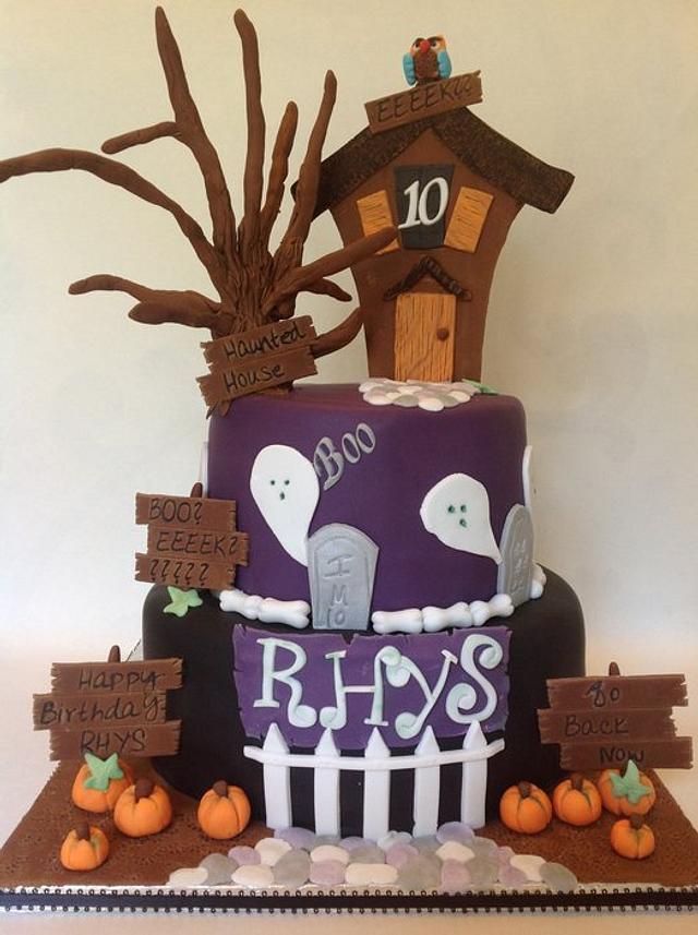 Miraculous Haunted House Birthday Cake Cake By Littledzines Cakesdecor Funny Birthday Cards Online Inifofree Goldxyz