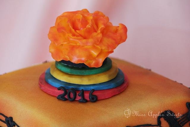 Ipanema Beach Wedding Cake