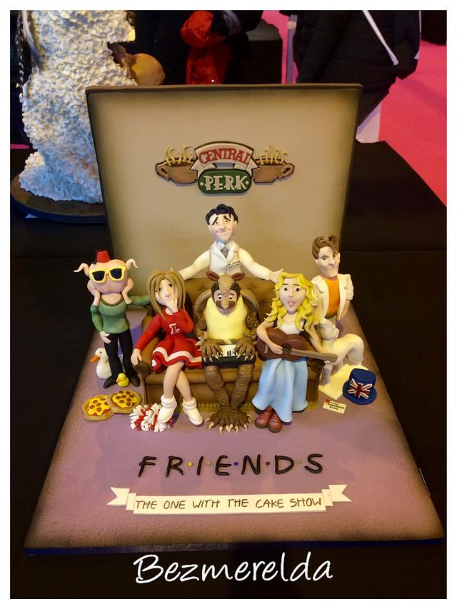Friends TV show themed cake