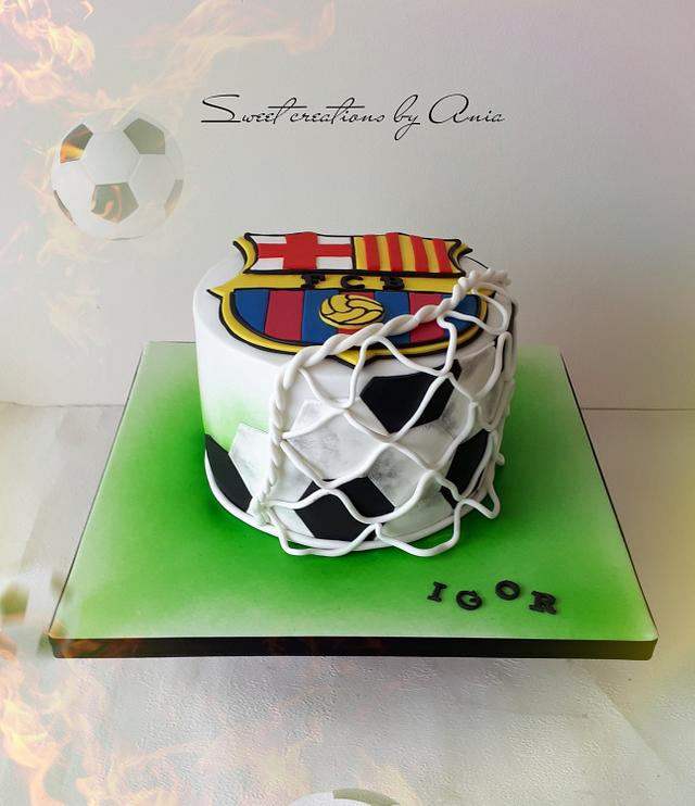 Fc Barcelona Cake Cake By Ania Sweet Creations By Cakesdecor