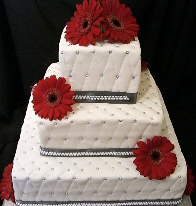 3 Tiered Quilted Wedding Cake