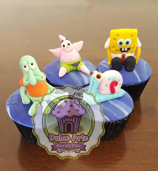 Bob esponja cupcakes