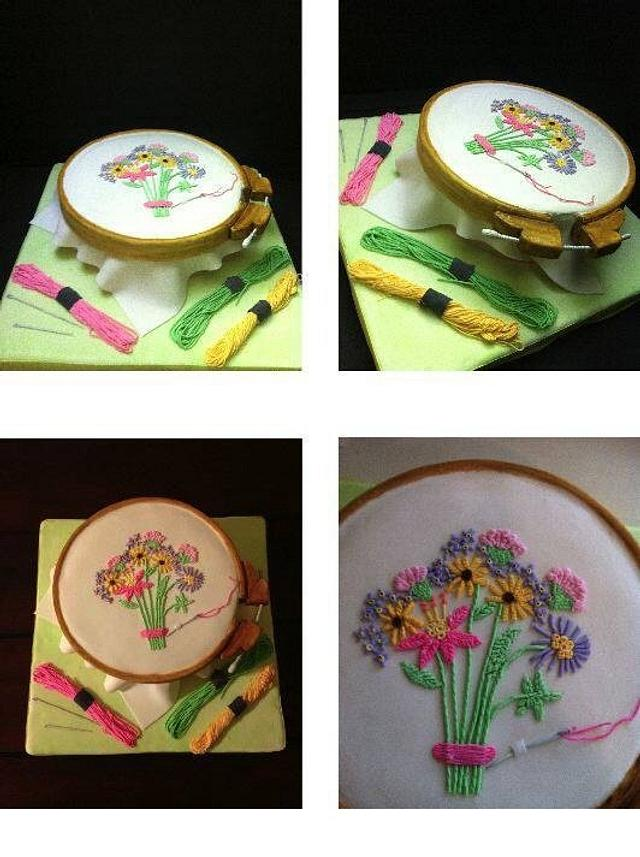 Cake for embroidery lovers.