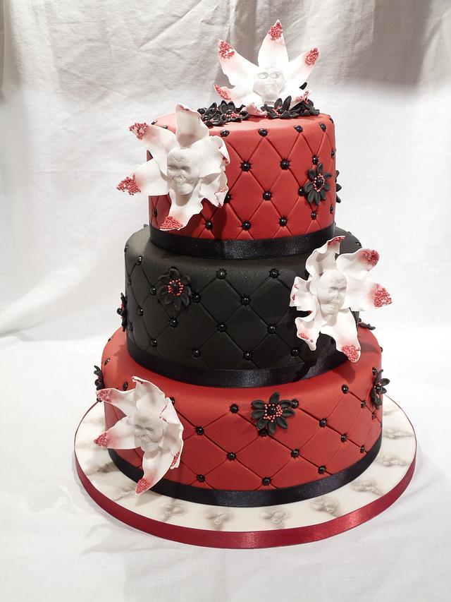 THREE TIERED WEDDING CAKE