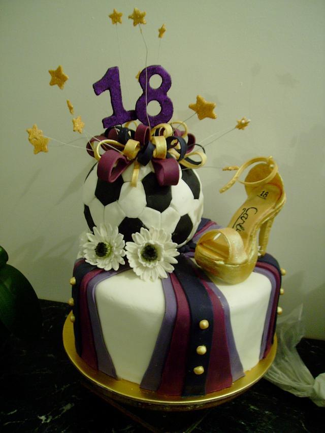 Soccer ball/Ball shoe cake
