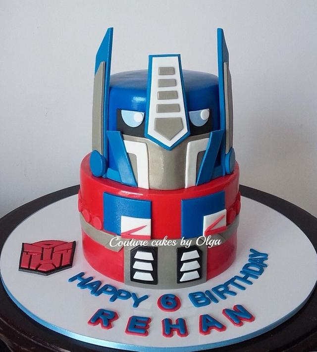 Brilliant Optimus Prime Transformer Cake By Couture Cakes By Olga Cakesdecor Personalised Birthday Cards Paralily Jamesorg