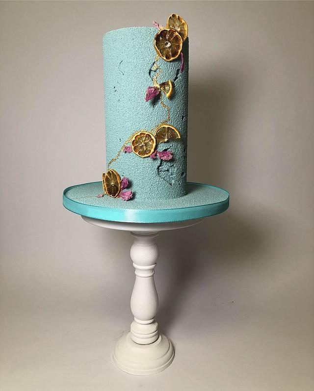 Tall elegant cake