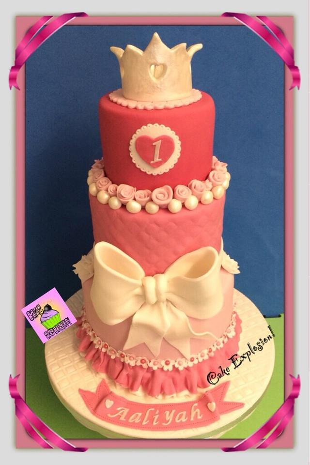 Awesome 1St Birthday Princess Cake Cake By Cake Explosion Cakesdecor Funny Birthday Cards Online Alyptdamsfinfo
