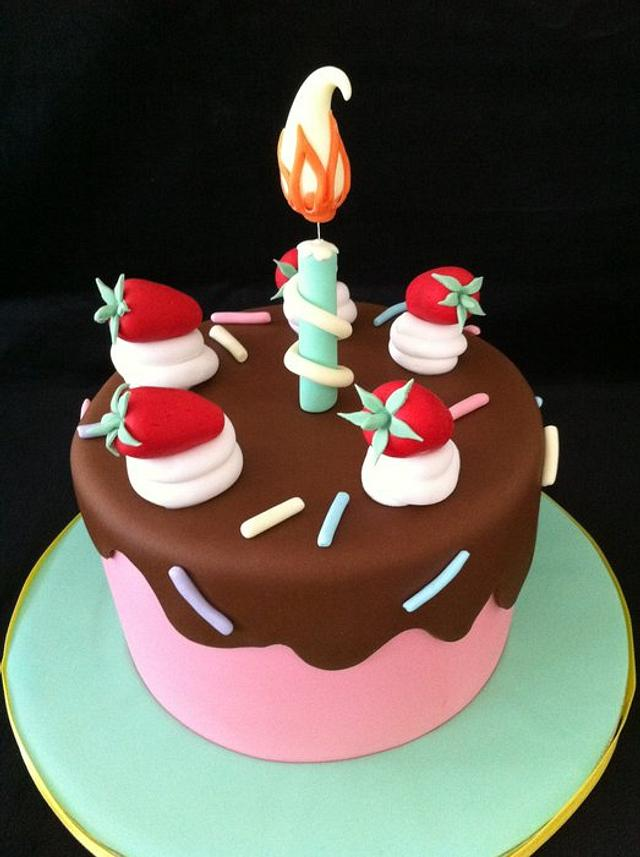 birthday candle cake