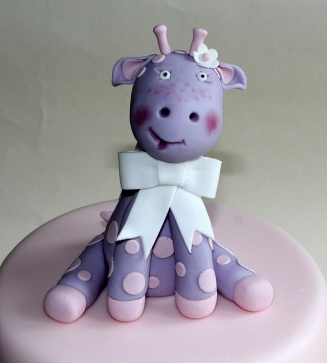 Baby Girrafe Birthday Cake