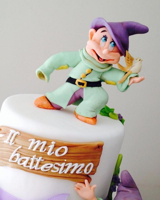 Dopey Christening cake