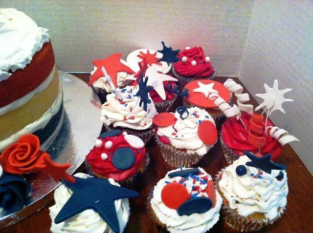 Patriotic Cupcakes-