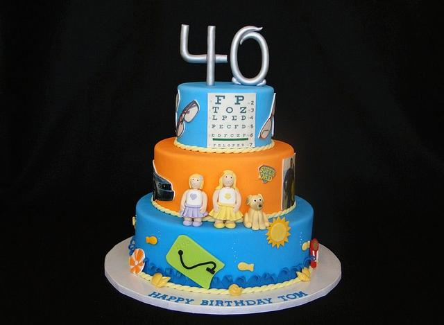 """This is my life"" 40th Birthday Cake"