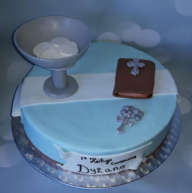 First Holy Communion cake.