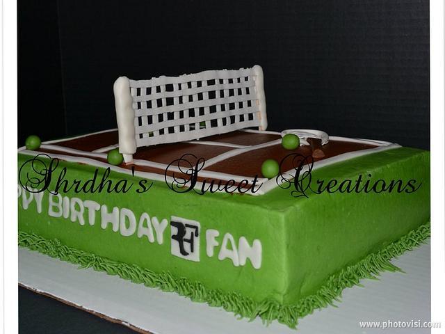 Tennis Cake for an RF Fan!