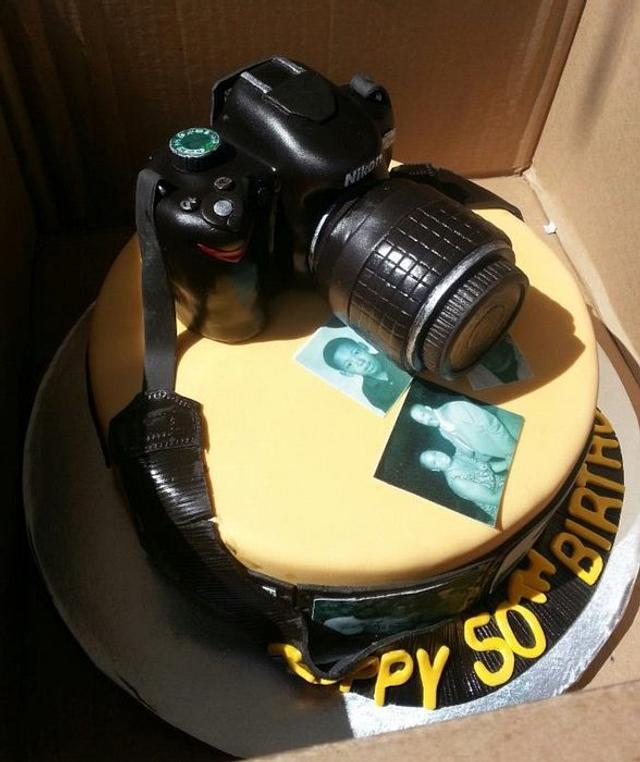 Fabulous Nikon Birthday Cake Cake By Karen Cakesdecor Personalised Birthday Cards Sponlily Jamesorg