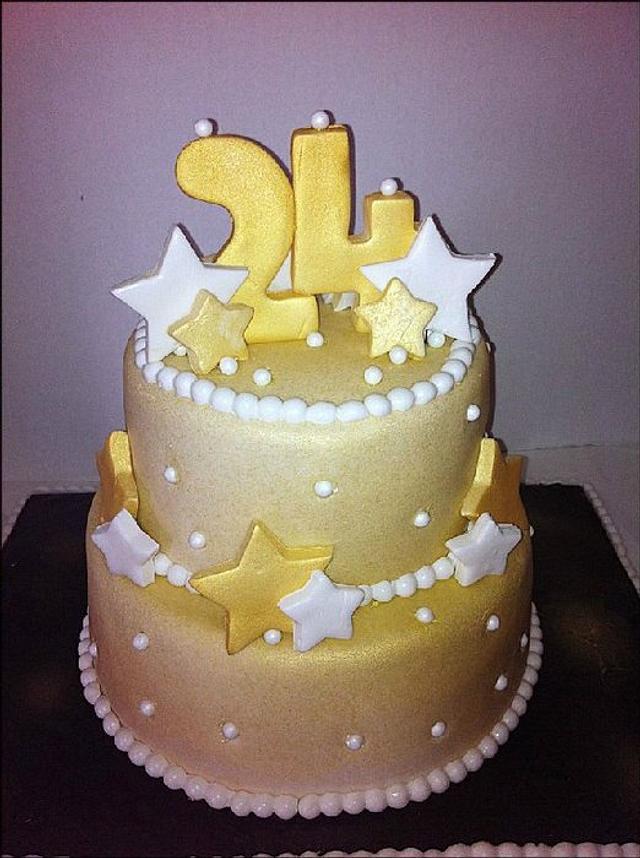 24 Karat Gold Birthday Cake