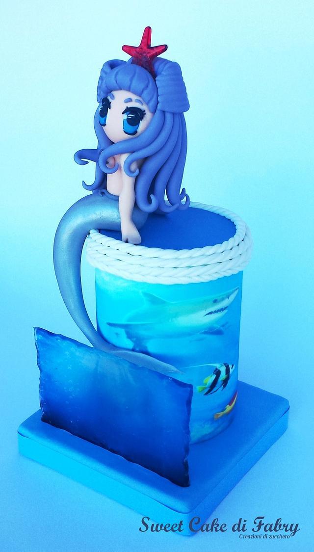 "Chibi Mermaid ""Dark Version"""
