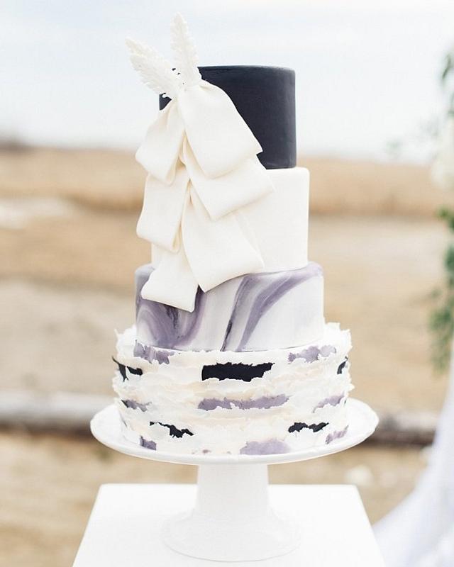 Black & White Beach Wedding