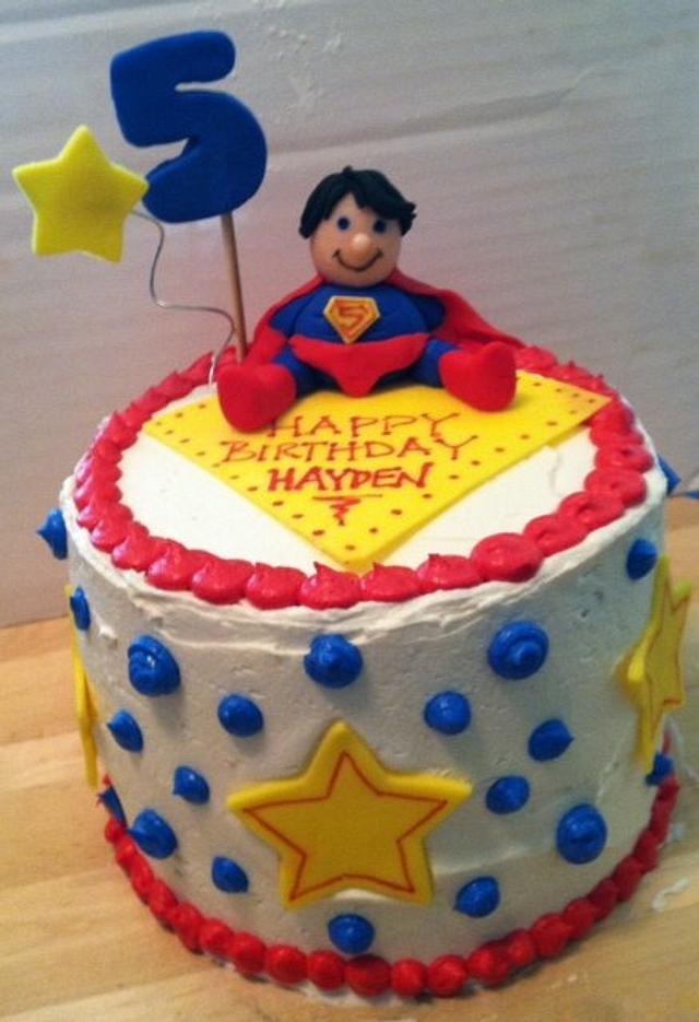 Brilliant Superman Birthday Cake Cake By Kristin Dimacchia Cakesdecor Funny Birthday Cards Online Bapapcheapnameinfo