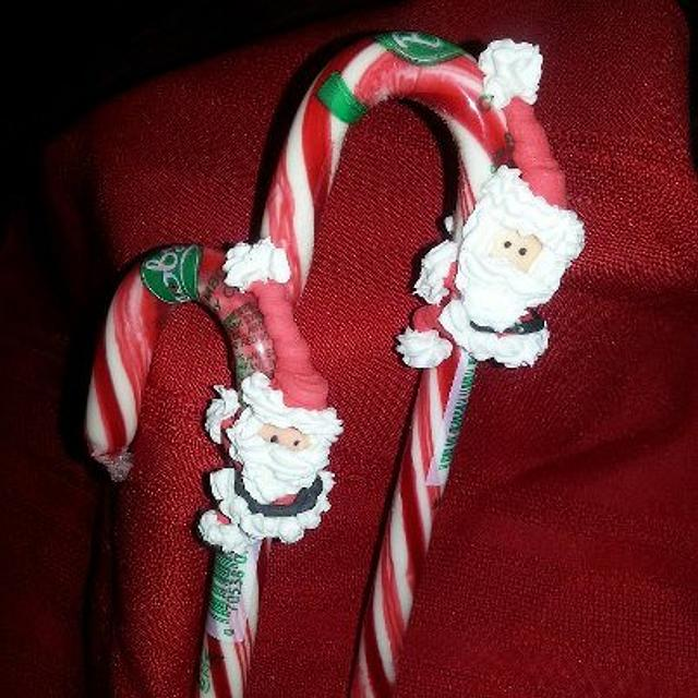 Santa on Candy Canes