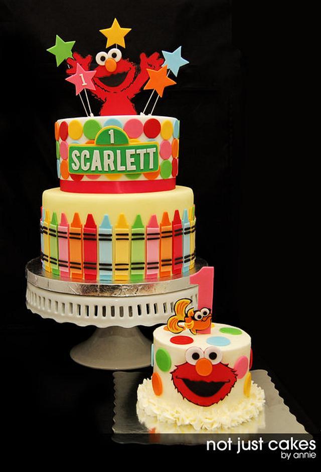 Phenomenal Elmo 1St Birthday Cake Cake By Annie Cakesdecor Personalised Birthday Cards Epsylily Jamesorg