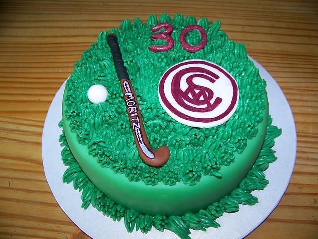 Hockey Cake with emblem of the club