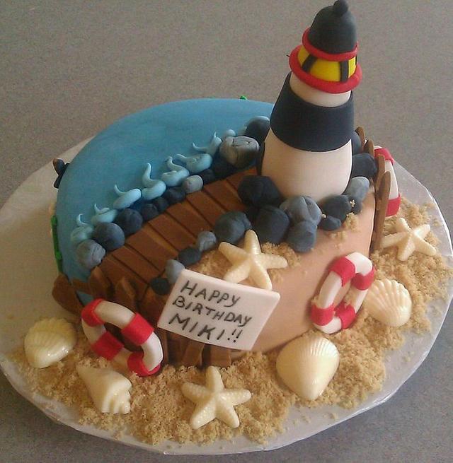 Lighthouse Cake for Miki
