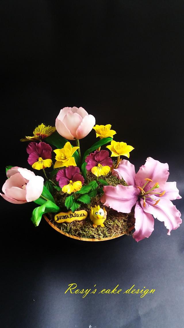 ikebana di Pasqua