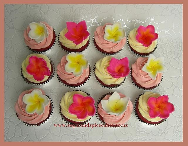 Frangipani Cupcakes for a Mum's 65th