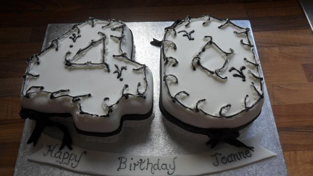 4oth Number cake