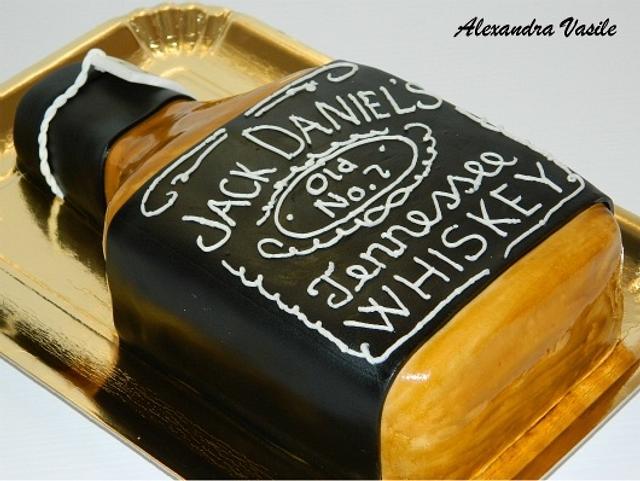 Jack Daniel's bottle cake