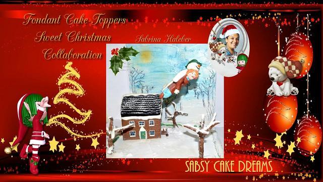 "Fondant cake topper Sweet christmas collaboration 2016 ""the snowman"""