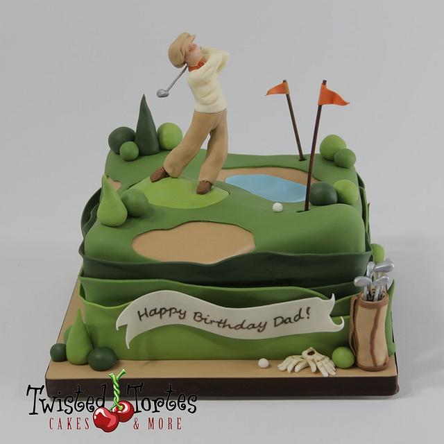 Superb Golfer Birthday Cake Cake By Twisted Tortes Cakesdecor Birthday Cards Printable Trancafe Filternl