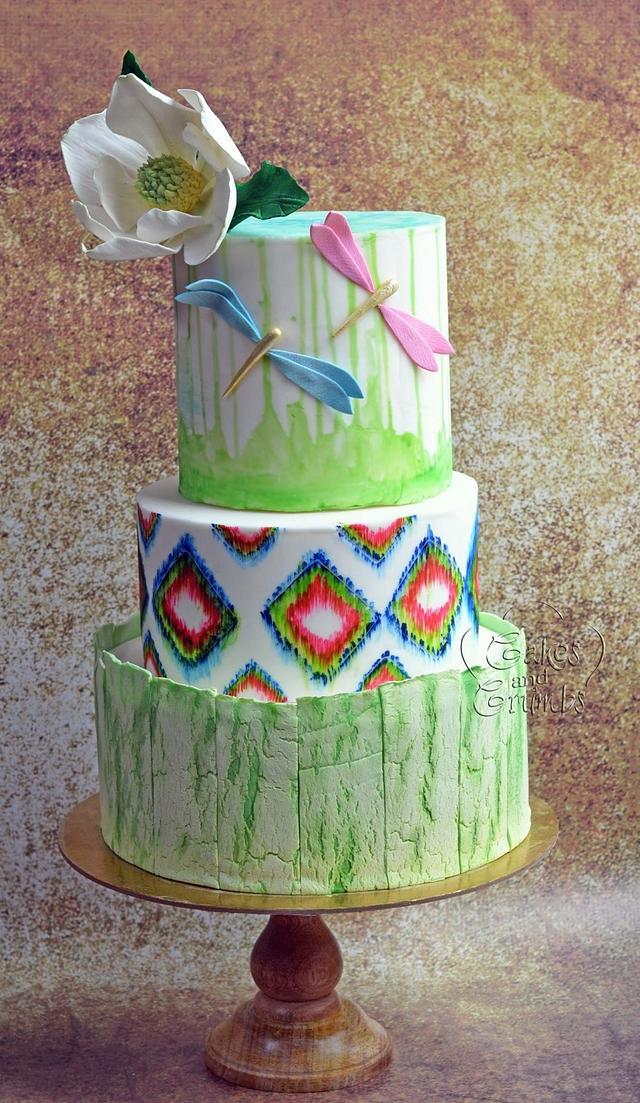woodland wedding cake ...