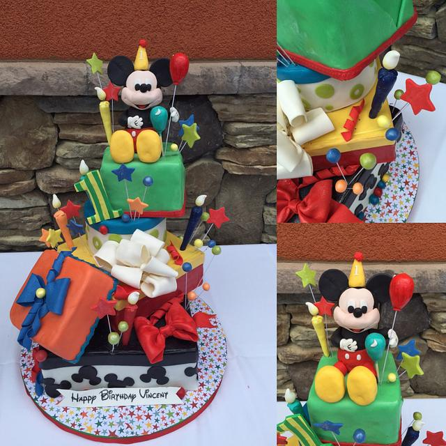 Incredible Mickey 1St Birthday Cake By Heidi Cakesdecor Funny Birthday Cards Online Fluifree Goldxyz