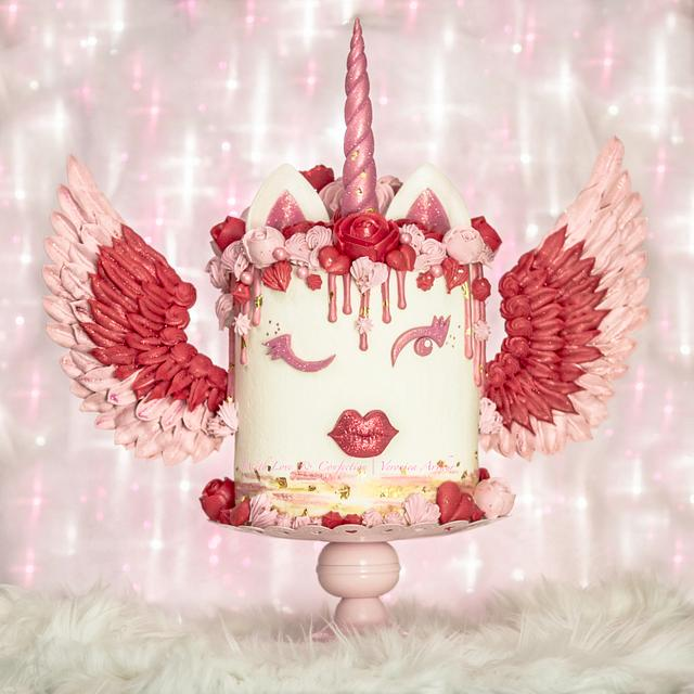 Valentine Unicorn Cake by With Love & Confection   Veronica Arthur