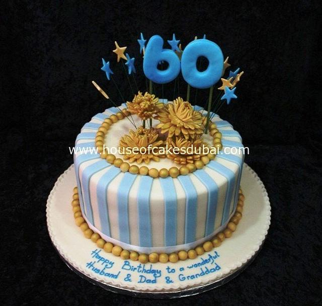 Astounding 60Th Birthday Cake Cake By House Of Cakes Dubai Cakesdecor Funny Birthday Cards Online Overcheapnameinfo