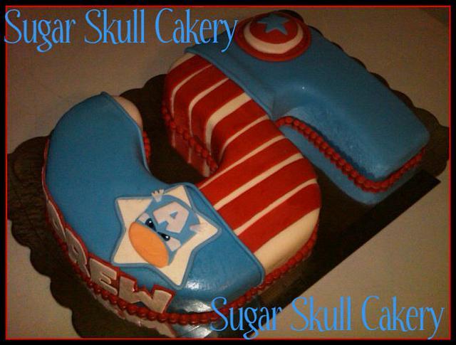 Captain America #5 Cake