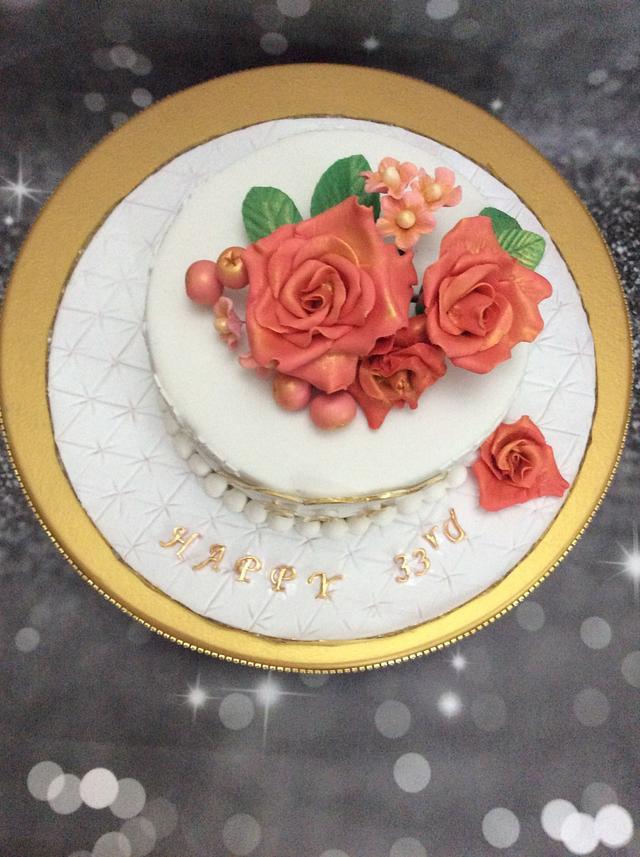 33rd Anniversary Cake